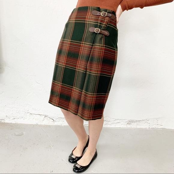 Ralph Lauren Dresses & Skirts - Lauren Ralph Lauren Tartan Pleated Skirt Wool Sz 6